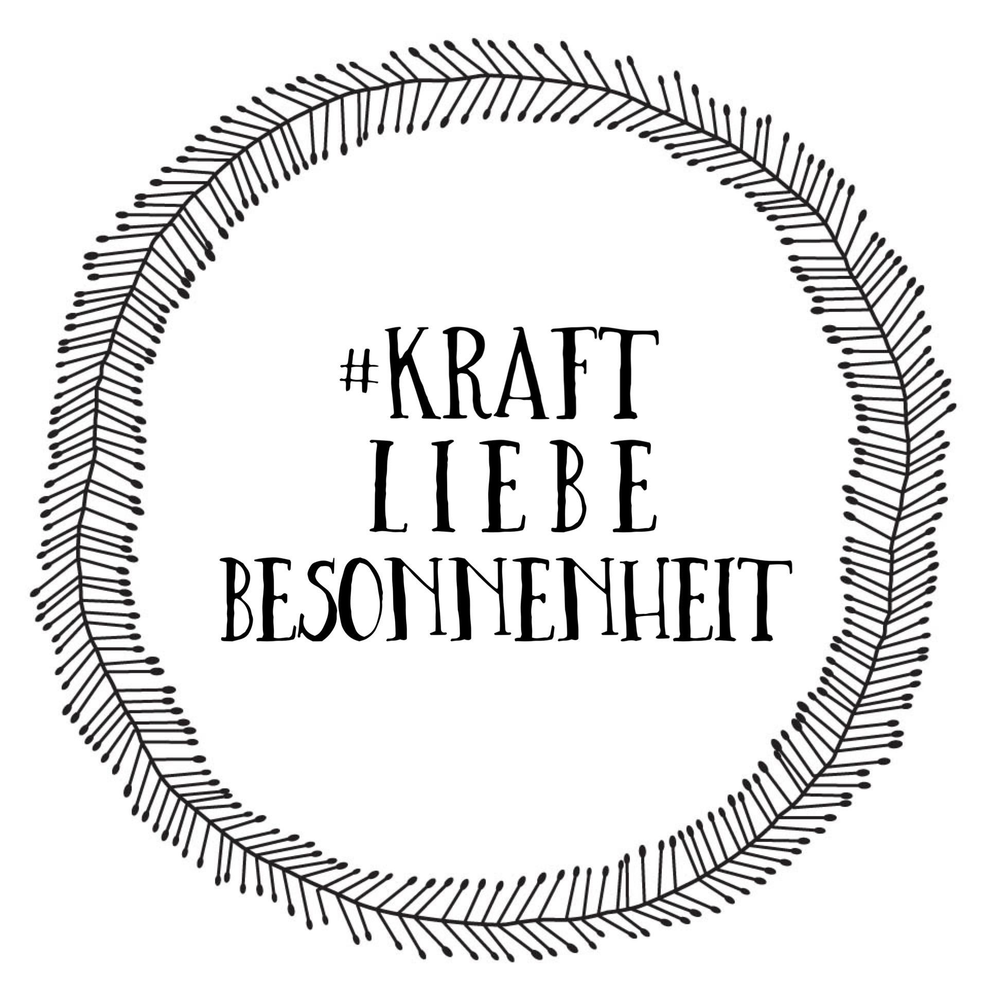 Logo unseres YouTube-Kanals #KraftLiebeBesonnenheit